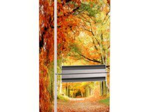 Наклейка на холодильник Краски осени