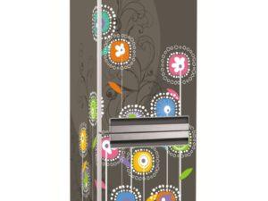 Наклейка на холодильник Абстрактные цветы