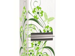 Наклейка на холодильник Завитки с цветами