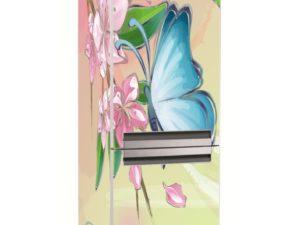 Наклейка на холодильник Прекрасная бабочка на цветке