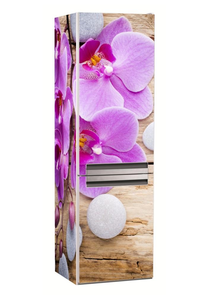Наклейка на холодильник орхидея