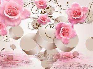 3D Фотообои Композиция с розами