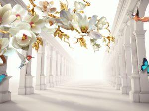 3D Фотообои Восхитительные цветы