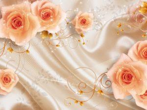 3D Фотообои Великолепие роз