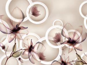 3D Фотообои Воздушные соцветия